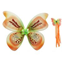 Fairygoodies Acorn Fairy Wings with matching wand- Tinkerbell colours