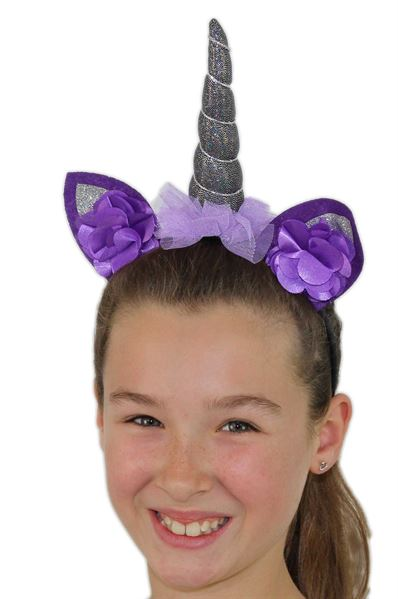 unicorn headdress- purple
