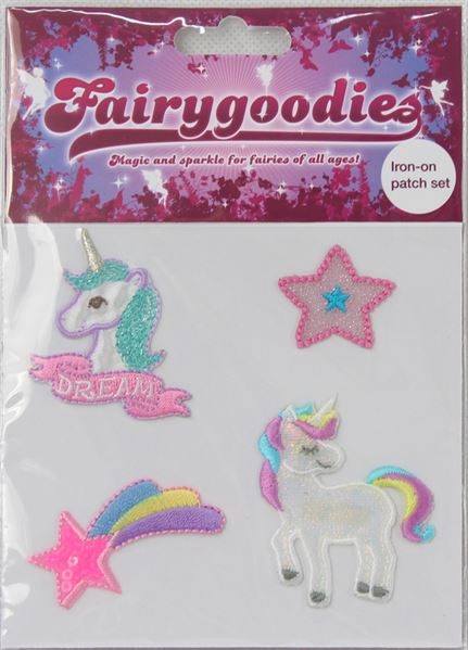 40667 Iron On Patches- unicorn shooting star