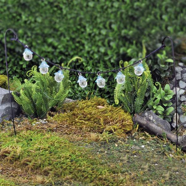 Fiddlehead Fairy Garden Accessories- Party Flower Lights