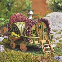 Gypsy wagon fairy house by Fiddlehead fairy gardens