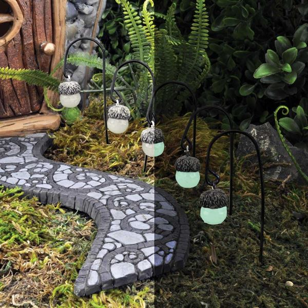 Fiddlehead Fairy Garden Accessories- Acorn Lights