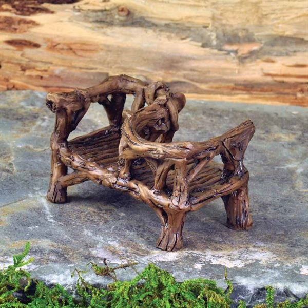 fiddlehead miniature garden courting bench
