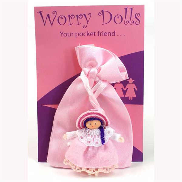 worry doll- light pink