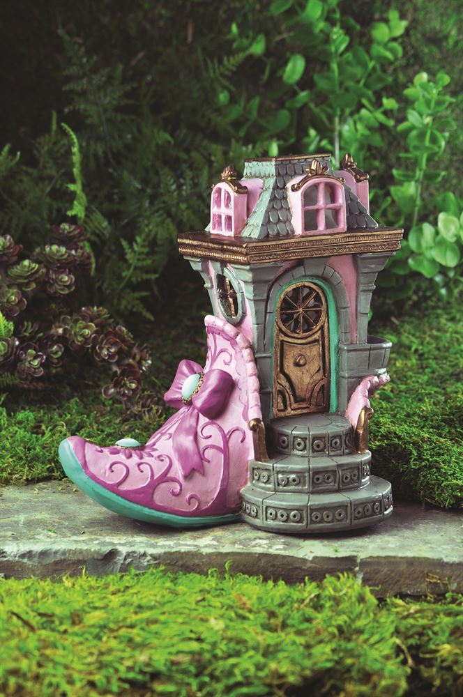 The Pink Slipper Chateau Fairy House: Fiddlehead Fairy