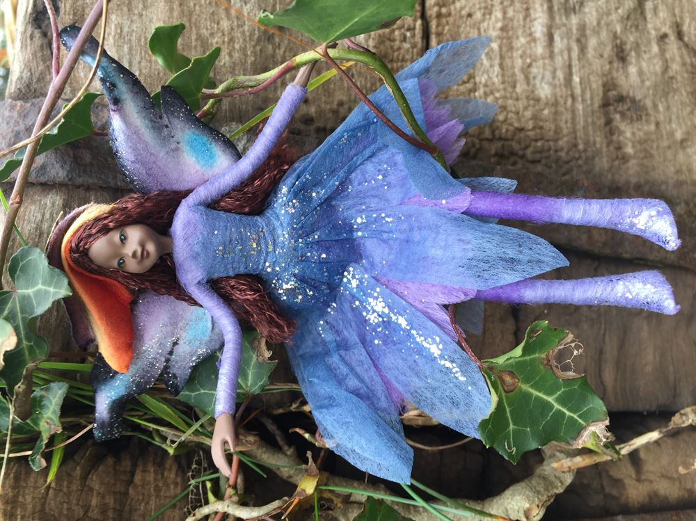 Tassie Design Fairy Figurine Harmony Ethically made Posable Fairy with Stand