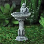 Angel Birdbath for miniature gardening