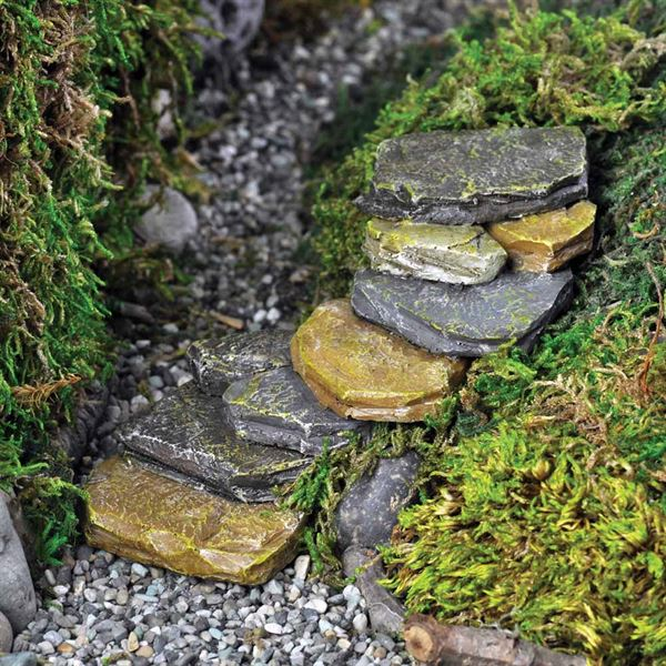 Fiddlehead Rock Steps for fairy gardens