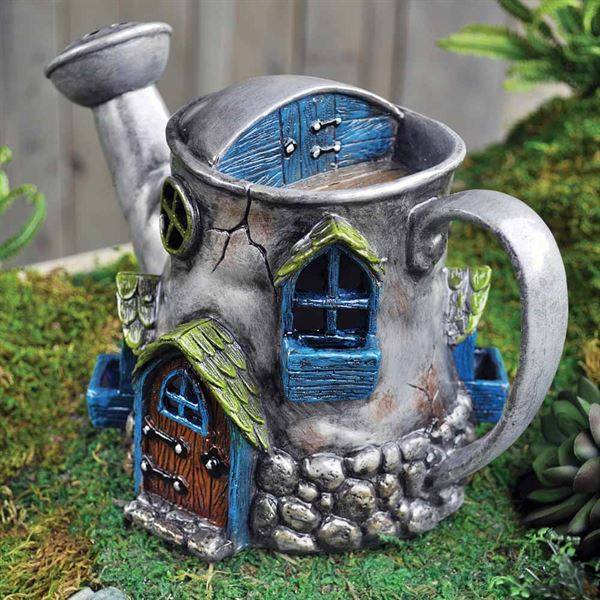 Fiddlehead Fairy House- Watering Can