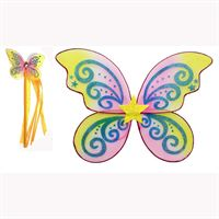 Fairy Wings and matching wand- Gold Star Design