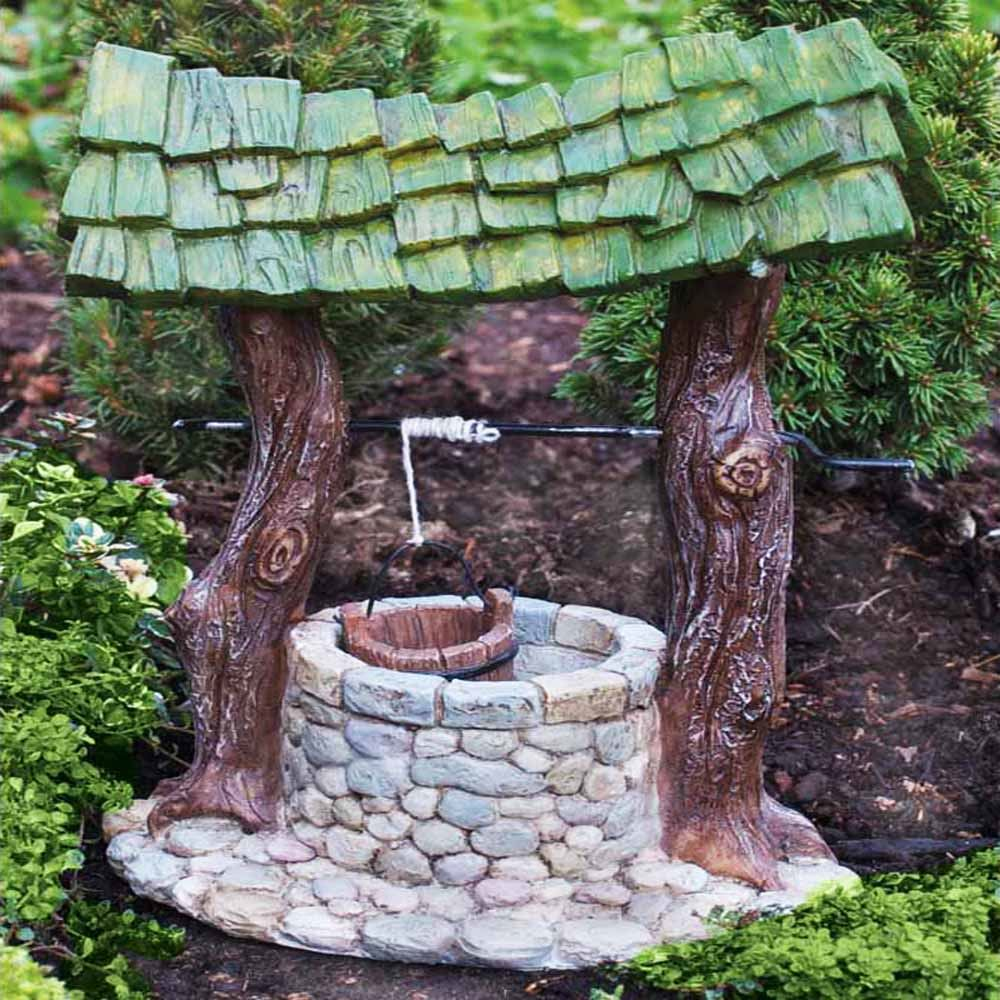 Wishing well fiddlehead fairygoodies for Garden wishing well designs