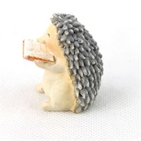 fairy garden accessories by Fiddlehead: Reading hedgehog