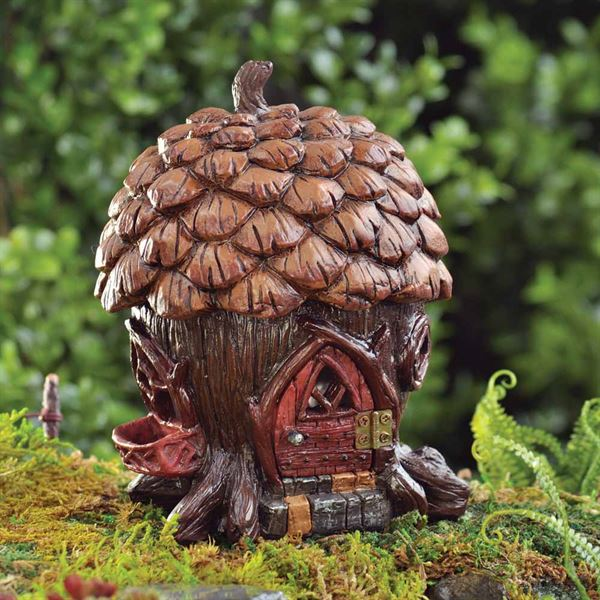 Fiddlehead Miniature Fairy Pine Cone House