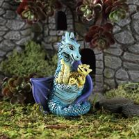 Fiddlehead Miniature Garden Mum & Baby Dragon