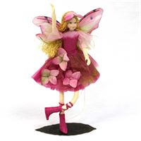 Hortensia- ethically made flexible fairy figurine