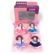 pink worry doll boxed set